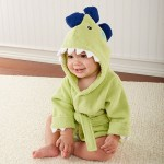 """Splash-a-saurus"" Dinosaur Hooded Spa Robe (Personalization Available)"