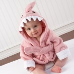 """Let the Fin Begin"" Pink Shark Robe (Personalization Available)"