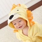 """Big Top Bath Time"" Lion Hooded Spa Robe (Personalization Available)"