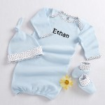 """Welcome Home Baby!"" 3-Piece Layette Set in Keepsake Gift Box (Blue) (Personalization Available)"