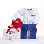 """""""Big Dreamzzz"""" Baby Baseball Three-Piece Layette Set in All-Star Gift Box (Personalization Available)"""