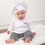 """Big Dreamzzz"" Baby Chef Three Piece Layette in Culinary Themed Gift Box (Personalization Available)"