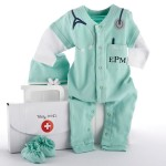 """Big Dreamzzz"" Baby M.D. Three-Piece Layette Set in ""Doctor's Bag"" Gift Box (Personalization Available)"