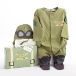"""Big Dreamzzz"" Baby Pilot Two-Piece Layette Set (Personalization Available)"