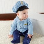"""""""Big Dreamzzz"""" Baby Officer 2-Piece Layette Set (Personalization Available)"""