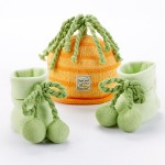 """Peas and Carrots"" Cap and Booties for Babies"