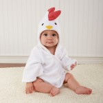 """Barnyard Bathtime"" Chicken Hooded Spa Robe (Personalization Available)"