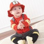 """""""Big Dreamzzz"""" Baby Firefighter Two-Piece Layette Set in Firefighter-themed Gift Box (Personalization)"""