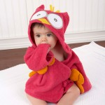"""My Little Night Owl"" Hooded Terry Spa Robe (Pink) (Personalization Available)"