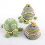 """Turtle Toppers"" Baby Hat and Turtle Plush Gift Set (Yellow)"