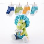 """Tricerasocks"" Plush Gift Set with Socks for Baby"