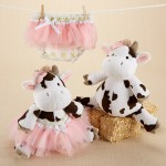 """""""Daisy Lou & Bloomer, Too!"""" Plush Cow and Bloomer For Baby"""