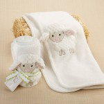"""Love Ewe Lamb"" Plush Velour Baby Blanket"