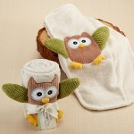 """My Little Night Owl"" Plush Velour Baby Blanket"