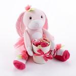 """Hannah Hop-in-Socks"" Plush Baby Bunny & Socks Gift Set (0-6 Months)"