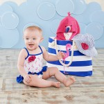 """Flamingo"" 4-Piece Nautical Gift Set with Canvas Tote for Mom"