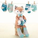 """""""Mr. Fox in Socks"""" Plush Plus Socks for Baby"""