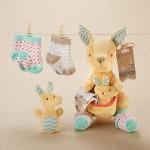 """""""Kangarooties"""" Plush Plus Rattle & Socks for Baby"""