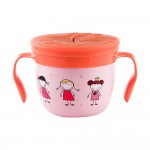 """""""Gobble n Go"""" Kids' Stainless Steel Snack Cup with Slotted Silicone Top - Ava Pink"""