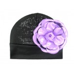 Black Couture with Metallic Purple Rose
