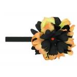 Black Flowerette Bursts with Black Orange Small Peony