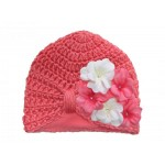 Candy Pink Tiny Turbans with Pink White Small Geraniums