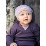 Organic Hooded Shirt -Eggplant