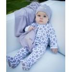 Organic Swaddling Blanket -Lavender