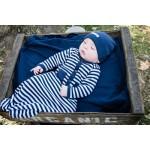 Organic Swaddling Blanket -Navy