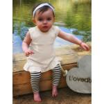 Organic Baby-Doll Dress -Beige