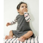 Organic Baby-Doll Dress -Gray