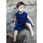 Organic Baby-Doll Dress -Navy