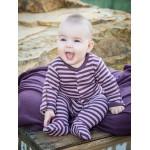 Organic Gl'oved-Sleeve™ Overall  - Lavender/Eggplant Stripe