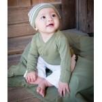 Organic Long Sleeve Kimono Bodysuit -Sage