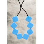 Blue Sugar Cube Necklace