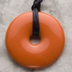 Coral Donut Shaped Pendant