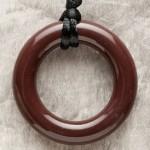 Dark Brown Ring Pendant