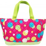 Personalized Pink Dots Small Quilted Tote/Diaper Bag