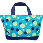 Personalized Aqua Dots Small Quilted Tote/Diaper Bag