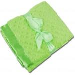 Lime Green Minky/Lime Green Satin Minky Receiving Blankets