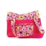 Girl Power Hot Pink Diaper Tote Bag Carryall
