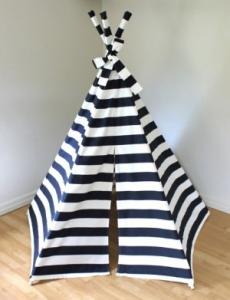 Black Stripe Tee Pee