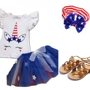 Red, White & Blue Tutu Unicorn Outfit