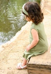 Organic Baby-Doll Dress -Sage