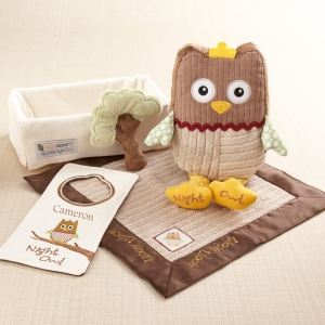 """My Little Night Owl"" Five-Piece Baby Gift Set (Personalization Available)"