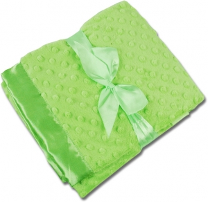 Lime Green Minky/Lime Green Satin Minky Receiving Blankets