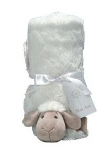 Mon Ami Allie Sheep Plush Stroller Blanket