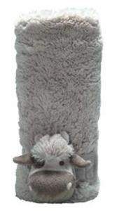 Mon Ami Louie Cow Plush Stroller Blanket