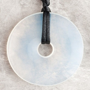 Clear Donut Shaped Pendant